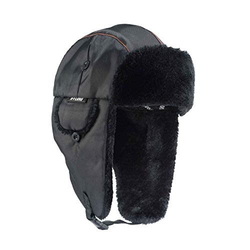 Ergodyne N-Ferno 6802 Thermal Winter Trapper Hat, Black, Small/Medium -
