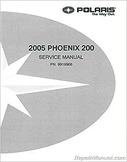Oem 2005 polaris phoenix 200 service manual 9919968   ebay.