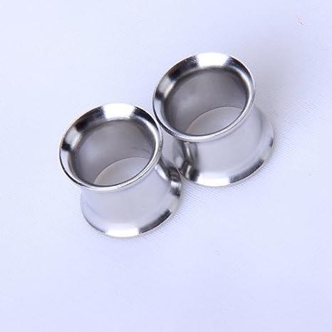 Fengge 10 mm tapón de oído de dilatación de túnel de Acero Inoxidable