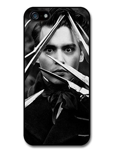 Johnny Depp Black & White Scissor Hands coque pour iPhone 5 5S