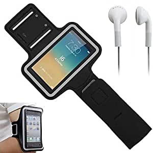 YULIN Slim PU Leather Sporty Armband with Earphone and Key Holder for iPhone 6 (Assorted Colors) , Blue