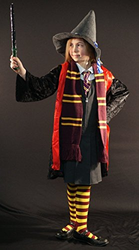 World Book Day Fancy Dress Costumes (Harry Potter-Wizard-Witch- Hermione Costume Set World Book day Fancy Dress Kids ALL AGES (AGE 10-12))