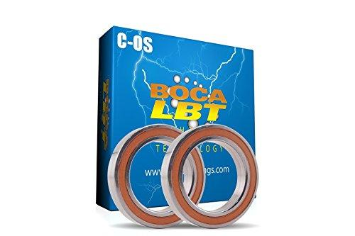 Si3n4 Ceramic Abec 7 Bearings (3x10x4 mm Ceramic Hybrid Orange Seal ABEC 7 Fishing Reel Bearings -)