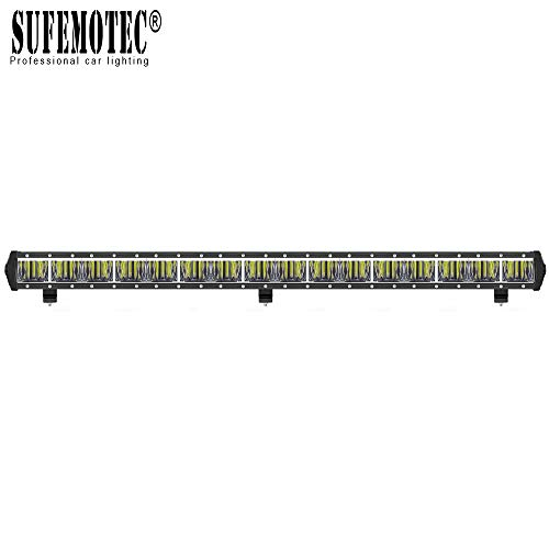 2019 NEW LED Light Bar SUFEMOTEC 34 Inch 160W Single Row LED Bar Driving Work Lights 10W CREE Chips Flood Beam For Off Road Trucks 4x4 JEEP Tractor UTV SUV Boat Heavy Duty Motorcycle Fog Pick Up Lamp