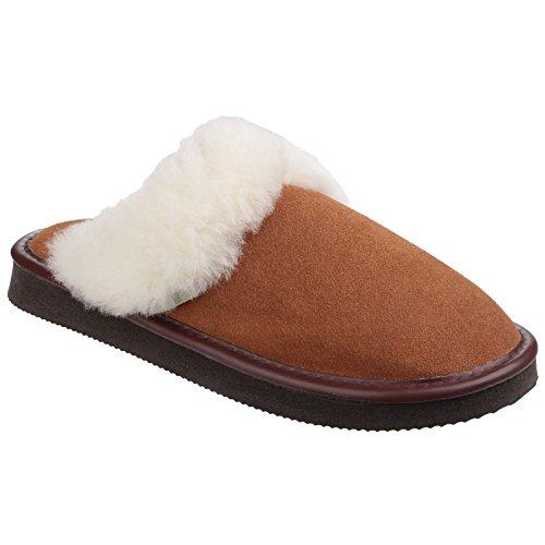 Cotswold - Zapatillas de estar por casa abiertas modelo Radway para mujer Camel