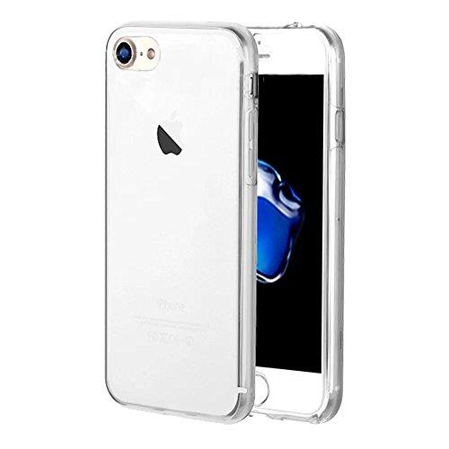 Funda Doble para iPhone 5s, Vandot Bling Brillo Carcasa Protectora 360 Grados Full Body   TPU en Transparente Ultra Slim Case Cover   Protección Completa Delantera y Trasera Cocha Smartphone Móvil Acc QBTPU 05