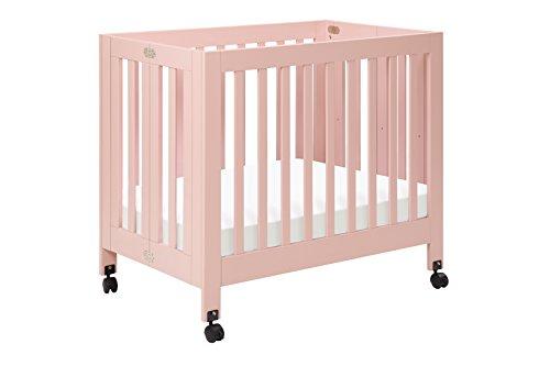 Babyletto Origami Mini Crib, Petal Pink