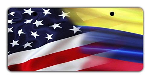 Colombia National Costume For Kids (BleuReign(TM) Mixed USA and Colombia Flag Bicycle Bike Moped Golf Cart 3