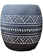 Flower Pot Garden Planters Outdoor Indoor, Containers With Drain Hole Home Decoration Gift (Size : S)