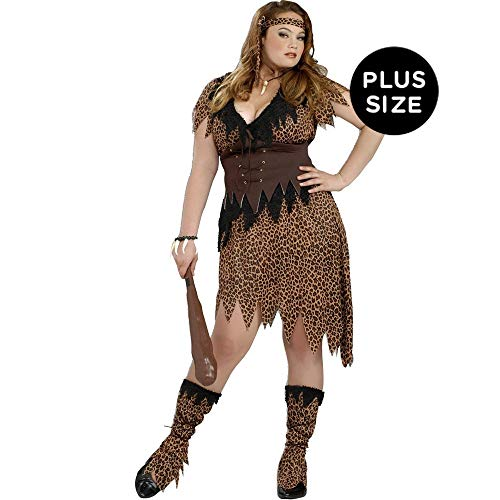 Women's Cave Beauty Plus Size Costume ()