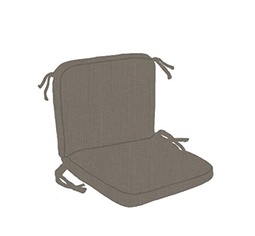 (Paradise Cushions RI05HB High Back Chair Cushion with Box Double Welt Design for Wrought Iron Furniture, Spectrum Graphite)