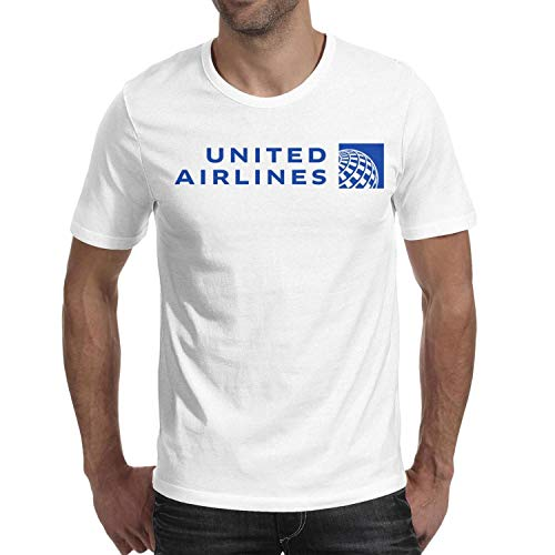 Men's t Shirts White Fashion Short Sleeve United-Airlines-Logo- tee ()