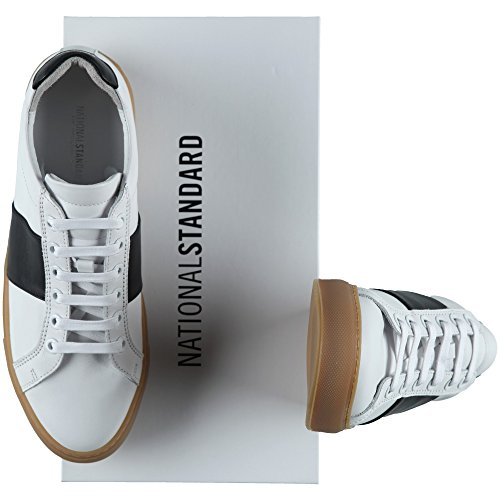 NATIONAL STANDARD Herren Low Sneaker Edition 4 White/Black Honey