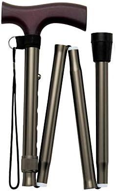 折りたたみ松葉杖 アウトドア 伸縮式杖 トレッキングポール 杖 ステッキ 杖 4点杖 軽量 伸縮式杖 高さ調節可能 歩行補助 夜間散歩/トレッキング