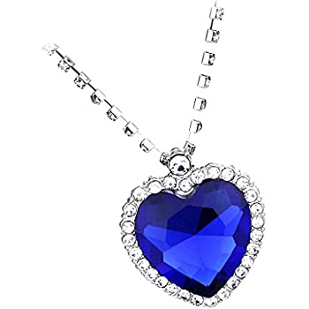Jili Online Fashion Crystal Pendant Necklace Titanic Heart Of The Ocean  Necklace Valentines Gift 65e0afd6c4a4