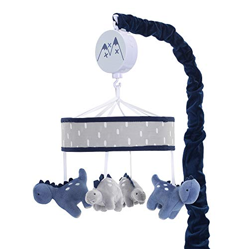 (Lambs & Ivy Baby Dino Blue/Gray Dinosaur Musical Baby Crib Mobile Soother Toy )