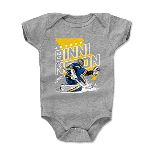 (500 LEVEL Jordan Binnington St. Louis Blues Baby Clothes, Onesie, Creeper, Bodysuit (6-12 Months, Heather Gray) - Jordan Binnington Player Map Y WHT)