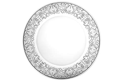 - Glass Charger - Plate - Lead Free Crystal - Set of 2 - Beautiful Designed Border - 12.5