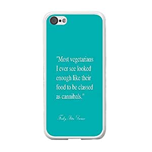 Unique Quotes Custom Design Iphone Case Iphone 5c Monogram Personalized Hard Plastic Back Mobile Phone Case Skin Protector (water blue BY424)