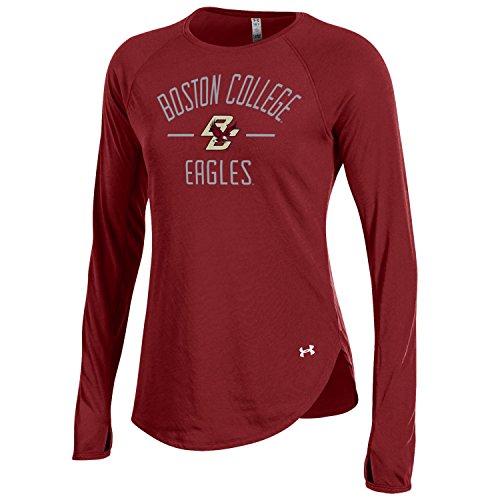 Under Armour NCAA Boston College Eagles Adult Women Women's Long Sleeve Threadborne Tee, XX-Large, Cardinal