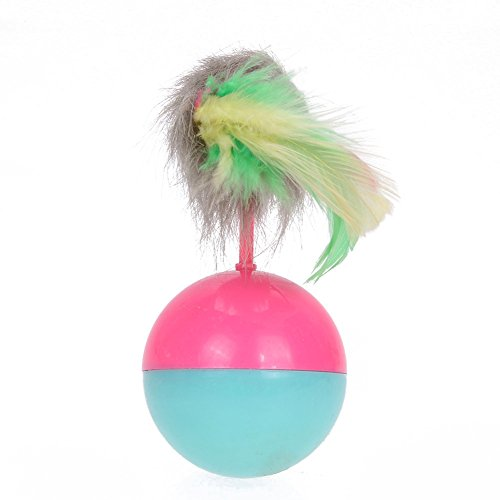 Embiofuels(TM) Cat Supplies Mice Toy for Cats Kitten Long Feather False Mouse Tumbler Ball Funny Pet Rustle Activity Toy Product for Cats well-wreapped