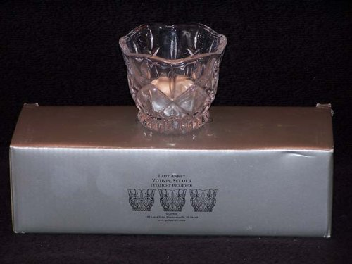 Gorham Crystal Lady Anne Votives - Set(s) Of 3