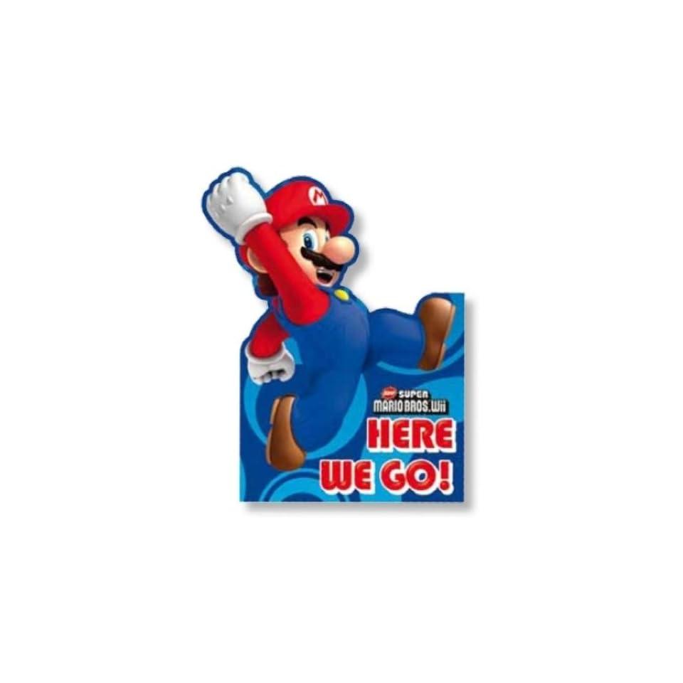 Super Mario Bros Wii INVITES Party Einladungen (Pack von 6)