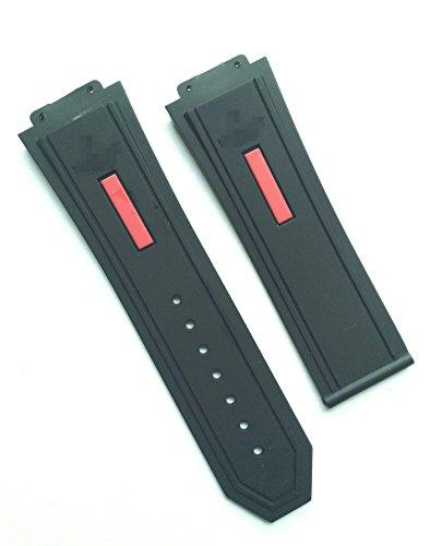 26MM RUBBER STRAP BAND FOR HUBLOT BIG BANG BLACK & RED