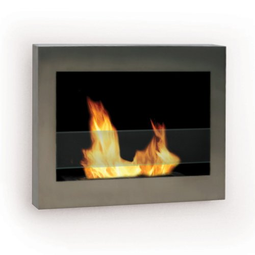 Style Ventless Gel Fuel Fireplace (Anywhere Fireplace - SoHo Stainless Steel Wall Mount Fireplace)