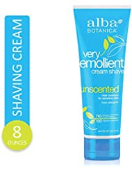 Alba Botanica, Moisturizing Cream Shave, Unscented, 8 oz