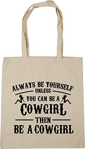 Shopping litres cowgirl HippoWarehouse yourself Tote then Bag a a 42cm be unless x38cm cowgirl be Beach be Always can Natural you Gym 10 n6SqFgw