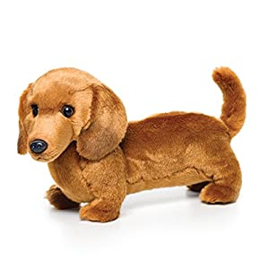 Nat and Jules Standing Large Dachshund Dog Children's Plush Stuffed Animal Toy 2