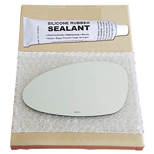 Mirror Glass + Silicone Adhesive for 1984-1998 Porsche 911 Driver Side Replacement