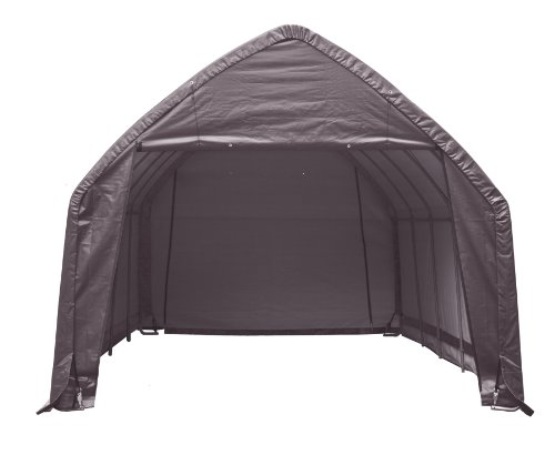 ShelterLogic Garage and Shelter Series SUV and Truck Garage-In-A-Box, Gray, 13 x 20 x 12-Feet, Outdoor Stuffs