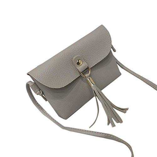 Mini Bafaretk Fashion Bag GREY Bags Vintage Small Shoulder Messenger Handbag Woman's with Tassel 1n1rwxq8CU