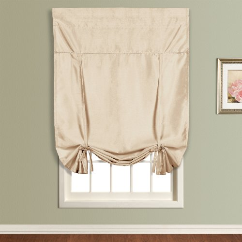 United Curtain Anna Tie Up Shade, 40 by 63-Inch, Taupe
