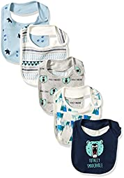 Rosie Pope Baby Bibs 5 Pack, Blue, One Size