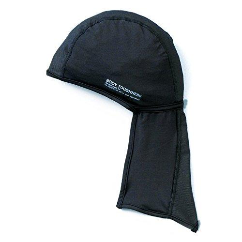 ガジュマル価値クラッチおたふく手袋 ボディータフネス 冷感?消臭 パワーストレッチ カバー付ヘッドキャップ JW-613 ブラック