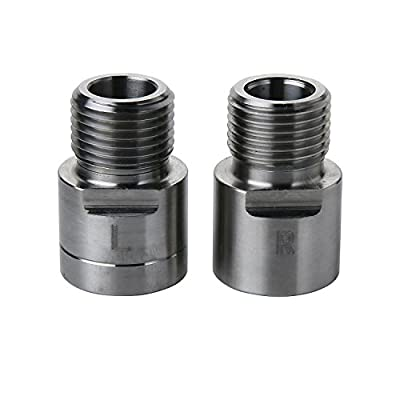 """Aolvo Bike Pedal Extenders, Stainless Steel Foot Pedal Extenders, 9/16"""" Universal Fit Bike Pedal Cleat Spacer Extenders Adapters for Any Bike SPD MT MTB BMX Road Street Bicycle - Extended 15 mm"""