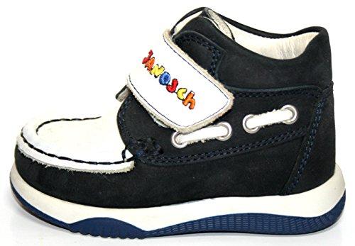 Janosch - Zapatos primeros pasos de Piel para niño Varios Colores multicolor 20 Varios Colores - weiß (weiß/blau)