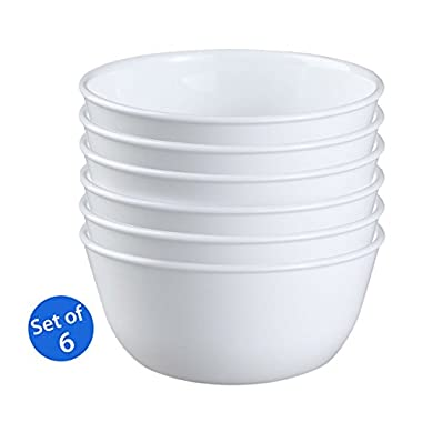 Corelle Livingware 1032595 28-Ounce Super Soup/Cereal Bowl, Winter Frost White - Set of 6