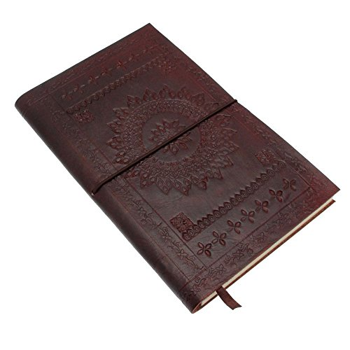 Real Vision Made Embossed Leather Journal Large Personal Journal Diary Notebook for Business Work School for everyday use for Men and Women with Vinta…