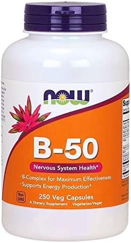 Now Supplements, Vitamin B-50 mg, 250 Veg Capsules
