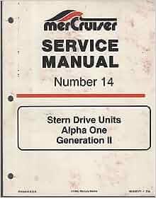 Books Mercruiser Alpha 1 Repair Manual Pdf DOWNLOAD