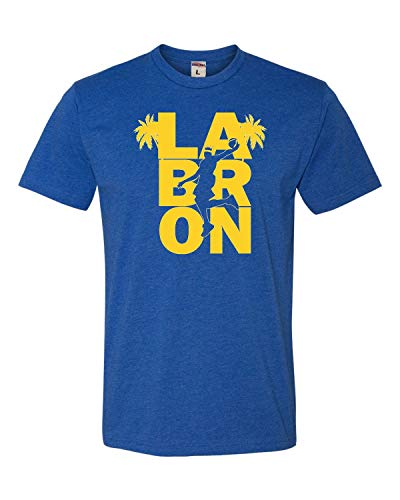 Large Royal Blue Adult LA Bron King of Los Angeles Deluxe T-Shirt (Los Angeles Kings Burger King Jersey For Sale)
