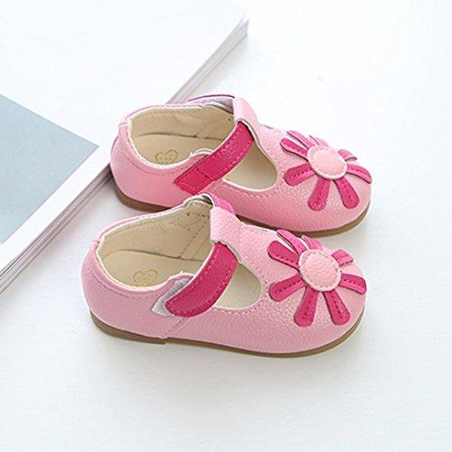 Schuhe für Baby Mädchen - cinnamou Schuhe Rutschfeste Sneaker - Fashion Sneaker - Lässige Einzelschuhe Schuhe für Kinder rutschfester Sohle für Babys für 1-6 Jahre Rose