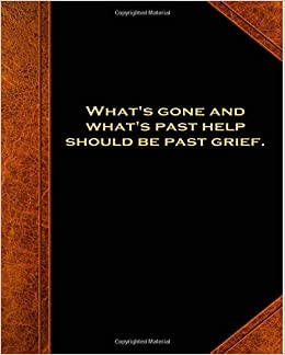 Amazoncom Shakespeare Quote Past Help Past Grief School