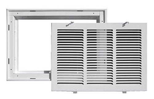 Truaire 190RF 24X14 Stamped Return Air Filter Grille, Removable Face, 24 in. X 14 in, ()