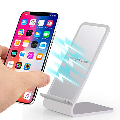 for iPhone Xs/Xs Max/XR❤️MChoice❤️Aluminium Design 2-Coil Charging Station Wireless Charger ()