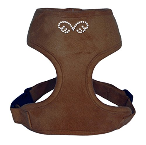 Puppy Angel Du Angione Suede Harness, Small, Brown